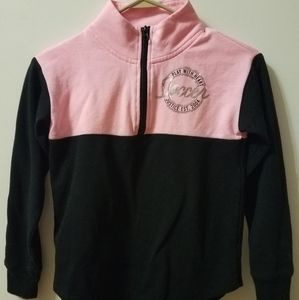 Girls Justice Pink Soccer Sweater Size 10